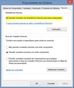 Habilitar suporte Remoto Windows