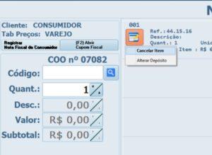 PAF-ECF-Cancelar-Item-Cupom-Fiscal